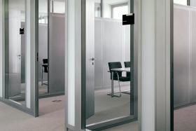 Ganzglastrennwand mit Rahmen (Trennwände, Trennwand, Ganzglas, Vollglas)