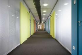 Vollwandelemente in Büro (Flur) (Trennwände, Trennwand, Vollwand)